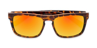 Folded of Duke #6097 in Glossy Tortoise Frame with Orange Mirrored Lenses