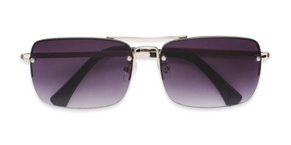 Folded of Duke #6097 in Matte Black Frame with Silver Mirrored Lenses