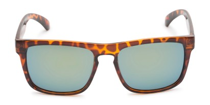 Front of Duke #6097 in Glossy Tortoise Frame with Green Mirrored Lenses