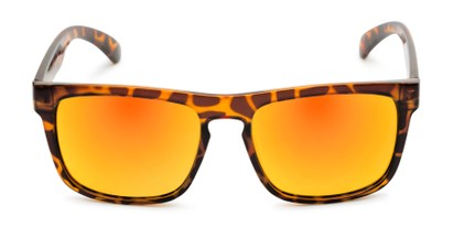 Front of Duke #6097 in Glossy Tortoise Frame with Orange Mirrored Lenses