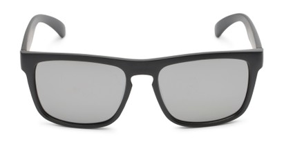 Front of Duke #6097 in Matte Black Frame with Silver Mirrored Lenses