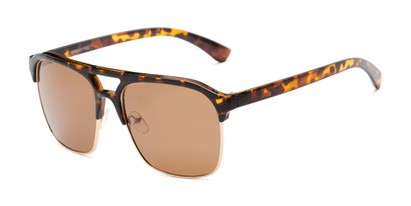 Angle of Duncan in Tortoise Frame with Amber Lenses, Men's Browline Sunglasses