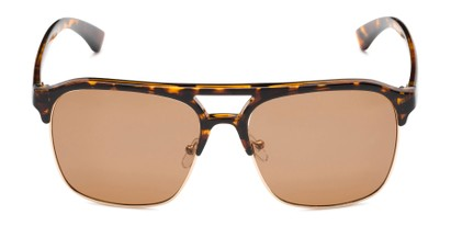 Front of Duncan in Tortoise Frame with Amber Lenses