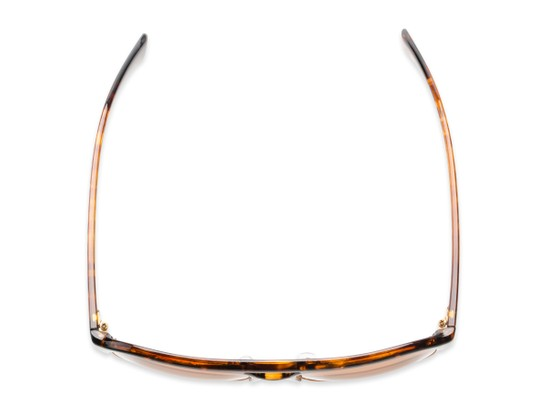 Overhead of Duncan in Tortoise Frame with Amber Lenses