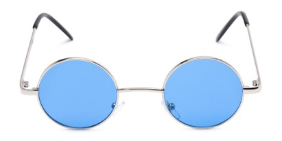 Front of Dune #2426 in Silver Frame with Blue Lenses