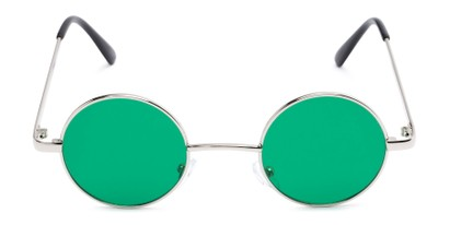 Front of Dune #2426 in Silver Frame with Dark Green Lenses