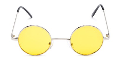 Front of Dune #2426 in Silver Frame with Yellow Lenses