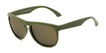 Angle of Duran #2031 in Green Frame with Gold Mirrored Lenses, Men's Square Sunglasses