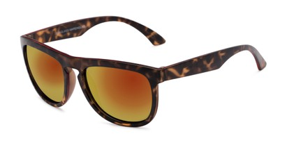 Angle of Duran #2031 in Tortoise Frame with Orange Mirrored Lenses, Men's Square Sunglasses