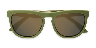 Folded of Duran #2031 in Green Frame with Gold Mirrored Lenses