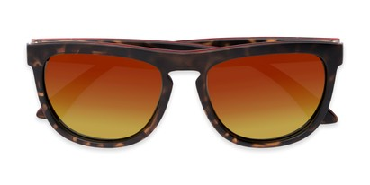 Folded of Duran #2031 in Tortoise Frame with Orange Mirrored Lenses