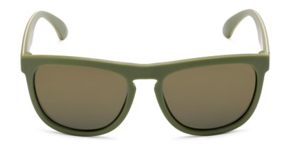 Front of Duran #2031 in Green Frame with Gold Mirrored Lenses