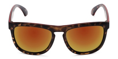 Front of Duran #2031 in Tortoise Frame with Orange Mirrored Lenses