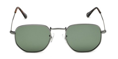 Front of Dylan #2022 in Matte Grey Frame with Green Lenses