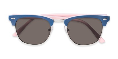 Folded of Eastland #54094 in Blue/Pink Frame with Grey Lenses