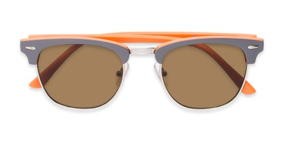 Folded of Eastland #54094 in Grey/Orange Frame with Amber Lenses