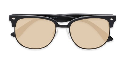 Folded of Elkhart #6209 in Matte Black Frame with Gold Mirrored Lenses