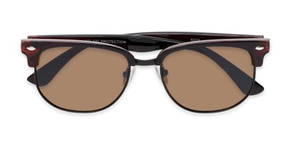 Folded of Elkhart #6209 in Glossy Brown Frame with Amber Lenses