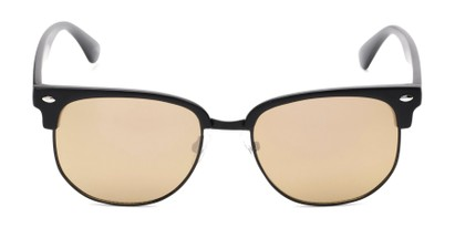 Front of Elkhart #6209 in Matte Black Frame with Gold Mirrored Lenses