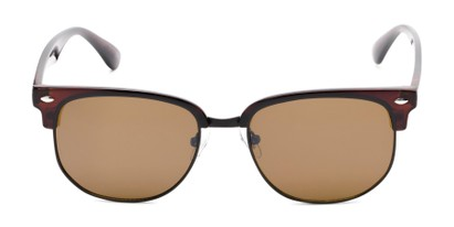 Front of Elkhart #6209 in Glossy Brown Frame with Amber Lenses