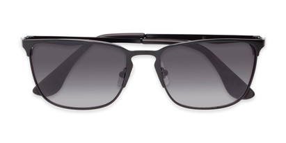 Folded of Ellis #25049 in Matte Black Frame with Smoke Lenses