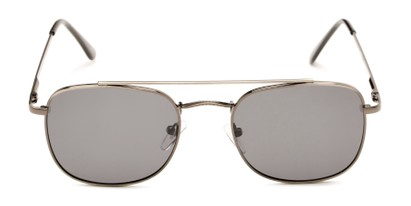 Front of Elm #8318 in Matte Grey Frame with Smoke Lenses