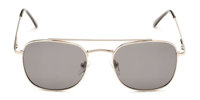 Front of Elm #8318 in Matte Silver Frame with Smoke Lenses