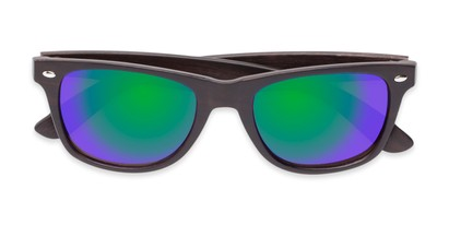Folded of Emerson #54010 in Dark Brown Frame with Green/Purple Mirrored Lenses