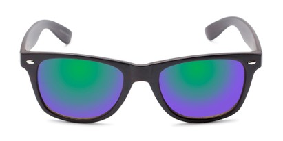 Front of Emerson #54010 in Dark Brown Frame with Green/Purple Mirrored Lenses