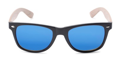 Front of Emerson #54010 in Black/Tan Frame with Blue Mirrored Lenses