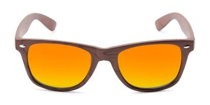 Front of Emerson #54010 in Brown Frame with Orange Mirrored Lenses