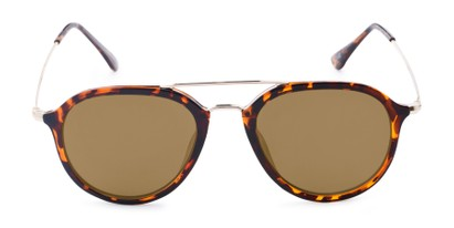Front of Enfield #51020 in Glossy Tortoise/Gold Frame with Gold Mirrored Lenses