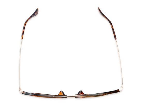 Overhead of Enfield #51020 in Glossy Tortoise/Gold Frame with Gold Mirrored Lenses