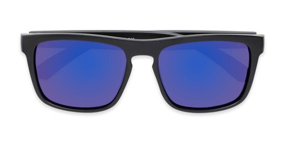 Folded of Ethan #60972 in Matte Black Frame with Blue Mirrored Lenses