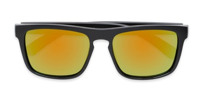 Folded of Ethan #60972 in Matte Black Frame with Orange/Yellow Mirrored Lenses
