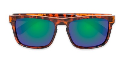 Folded of Ethan #60972 in Tortoise Frame with Blue/Green Mirrored Lenses