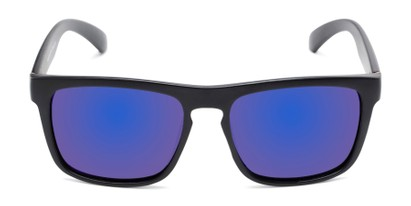 Front of Ethan #60972 in Matte Black Frame with Blue Mirrored Lenses