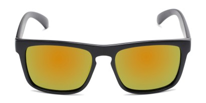 Front of Ethan #60972 in Matte Black Frame with Orange/Yellow Mirrored Lenses
