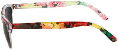 Floral Clubmaster Style Sunglasses