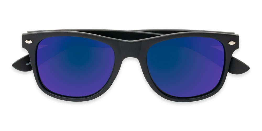 d3c5194d224 Matte Retro Square Shades with Polarized Mirrored Lenses