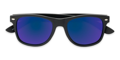 Folded of Fillmore #6932 in Matte Black Frame with Blue/Purple Mirrored Lenses