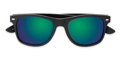 Folded of Fillmore in Matte Black Frame with Green/Purple Mirrored Lenses