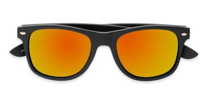 Folded of Fillmore in Matte Black Frame with Orange/Yellow Mirrored Lenses