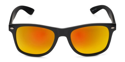 Front of Fillmore in Matte Black Frame with Orange/Yellow Mirrored Lenses