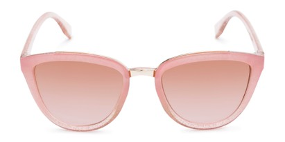 Front of Flora #2552 in Pink Glitter Frame with Pink Lenses