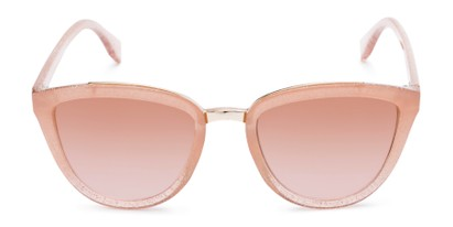 Front of Flora #2552 in Light Pink Glitter Frame with Pink Lenses
