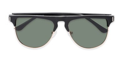 f23ce8dc5ed0 Folded of Floyd  2032 in Black Gold Frame with Green Lenses
