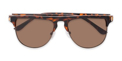 Folded of Floyd #2032 in Tortoise/Grey Frame with Amber Lenses
