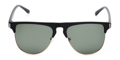Front of Floyd #2032 in Black/Gold Frame with Green Lenses