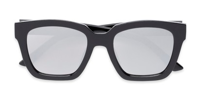 Folded of Foley #2884 in Black Frame with Silver Mirrored Lenses